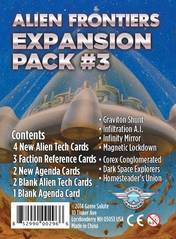 Alien Frontiers Expansion Pack #3 (Exp.) (engl.)