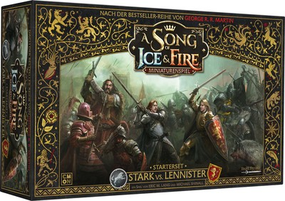 A Song of Ice & Fire: Miniaturenspiel - Stark vs. Lennister (Starterset) (deutsch)