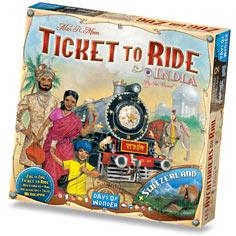 Zug um Zug (Ticket to Ride) Indien (Erw.) (inte...