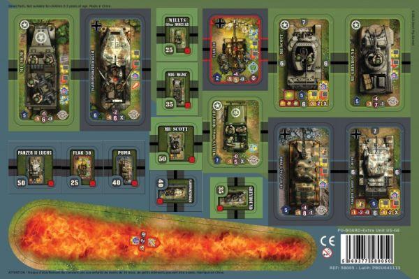 Heroes of Normandie: Vehicles Punch Board (Exp.) (engl.)