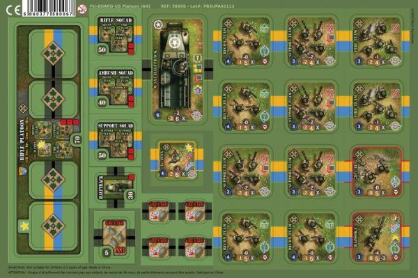 Heroes of Normandie: US Platoon Punch Board (Exp.) (engl.)