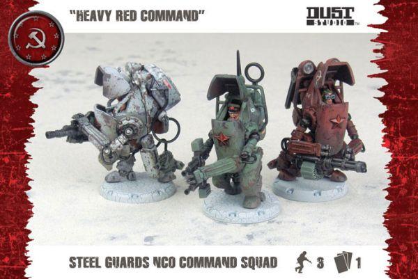 Dust Tactics: SSU Steel Guard NCO Command Squad (Exp.) (engl.)