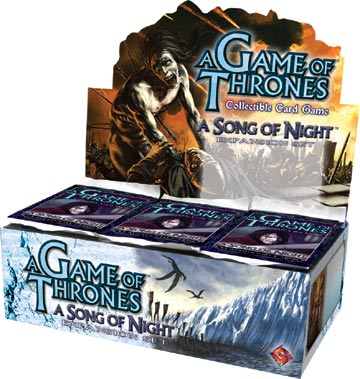 A Game of Thrones (CCG): A Song of Night Booster (Display) (engl