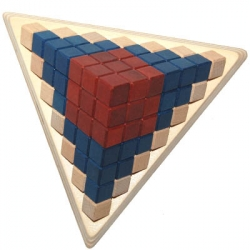 Cubicup (Holzspielbrett/Holzfiguren rot/blau)