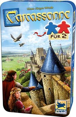 Картинки по запросу Carcassonne, Für 2 - Bring-Mich-Mit-Spiel in Metalldose