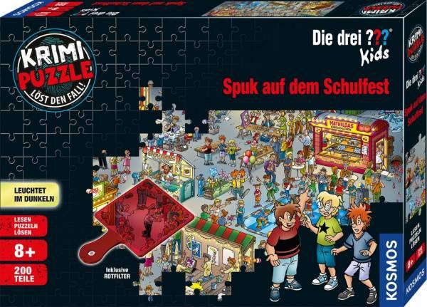 Krimipuzzle: Die drei ??? Kids - Spuk auf dem Schulfest (200 Teile)