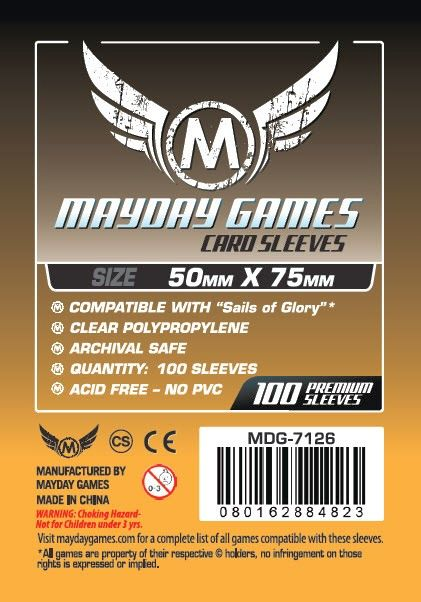 Custom Card Sleeves (100) 50 x 75mm - 7126