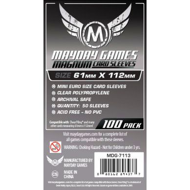 Magnum Platinum Card Sleeve (50) 61 x 112mm - Dwarf King - 7113