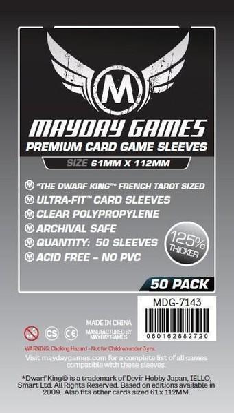 """Premium Card Sleeve Dwarf King"""" (50pcs) 61x112mm - 7143"""""""