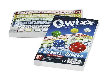 Qwixx - 2 Zusatz-Blöcke