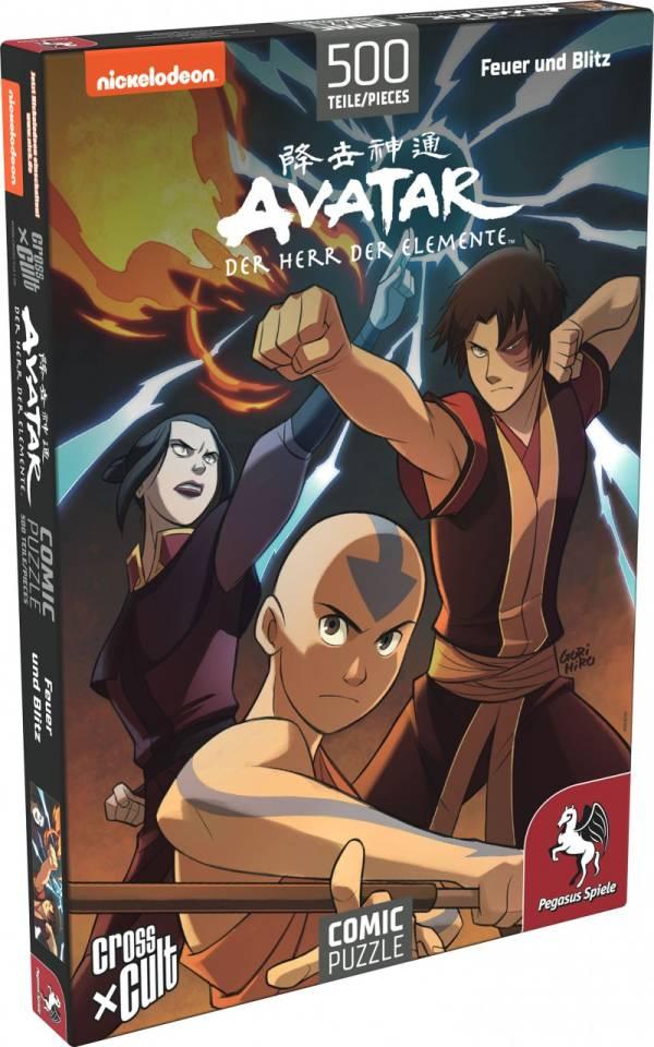 Puzzle: Avatar - Der Herr der Elemente (Feuer und Blitz), 500 Teile