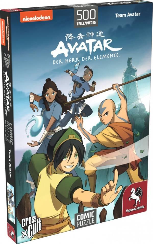 Puzzle: Avatar ? Der Herr der Elemente (Team Avatar), 500 Teile