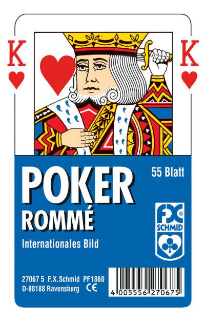Poker, international (Glasklares Etui)