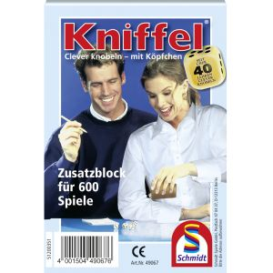 Kniffelblock (Zusatzblock für 600 Spiele)