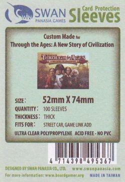 Kartenhüllen, 52mm x 74mm, 100 Hüllen, Premium 6106