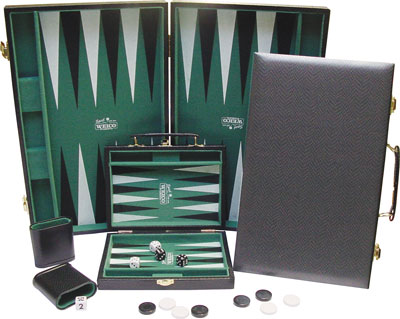 Backgammon (Lederimitation schwarz)